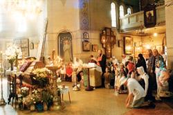 Aizlūgums pie Svētā Rīgas Jāņa netrūdošajiem pīšļiem Dievmātes Patvēruma (Pokrova) baznīcā